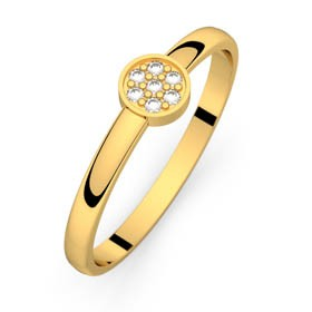 Bague diamant or jaune LUNA 0,04 ct
