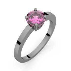 Bague saphir rose or noir DAPHNE 0,98 ct