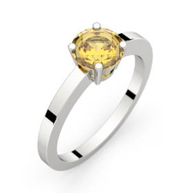 Bague saphir jaune or blanc DAPHNE 1,16 ct