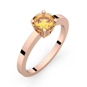Bague saphir jaune or rose DAPHNE 1,16 ct