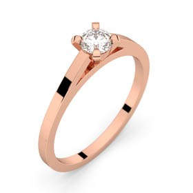 Solitaire or roe diamant 0,25 ct HSI SAINT-GERMAIN