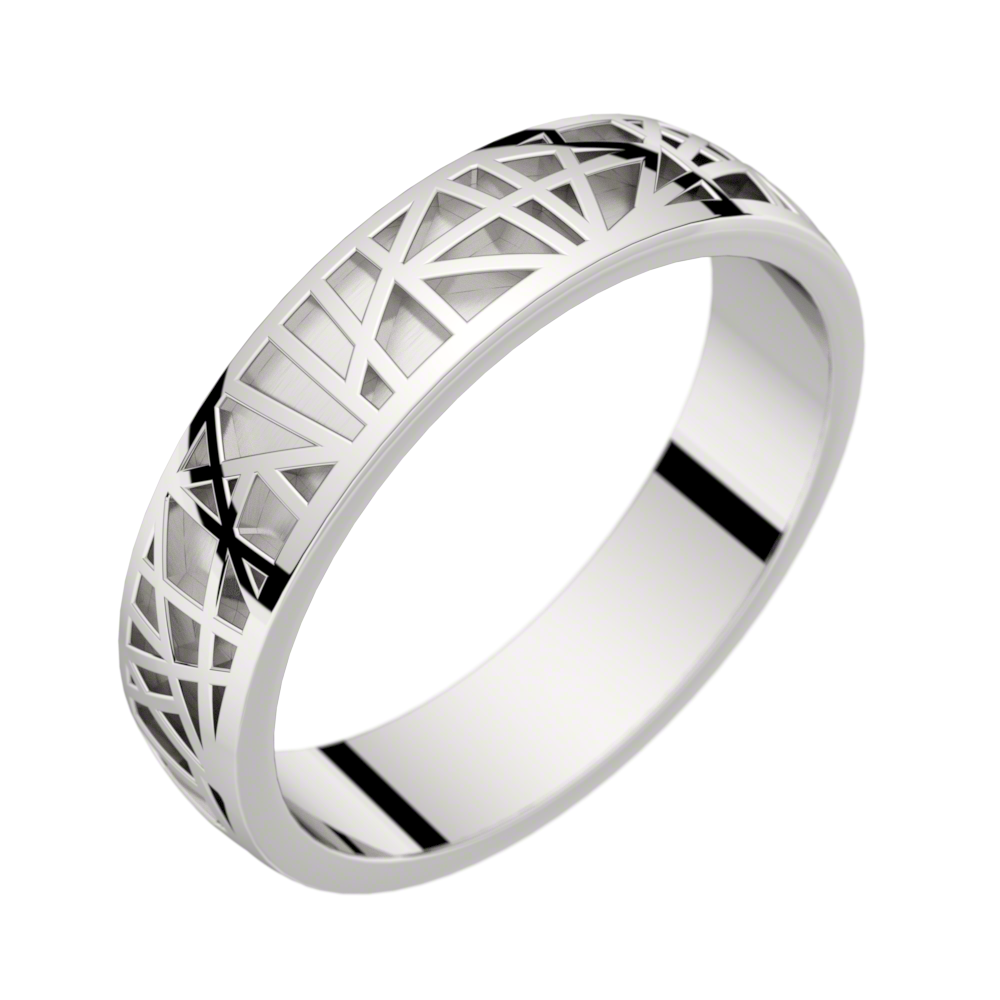 White gold ring Abstraction 50