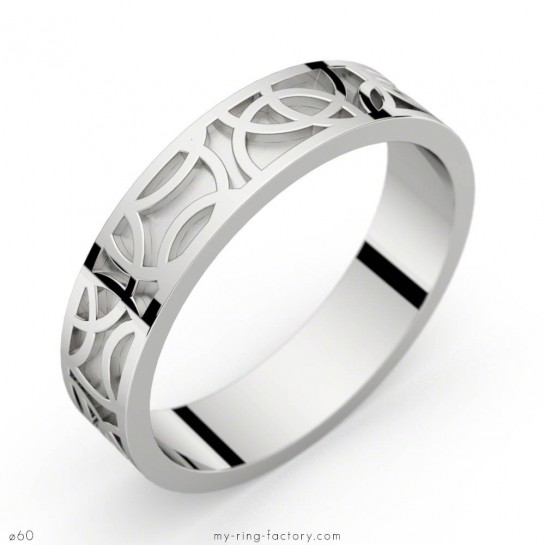 White gold ring Crop Circles 50